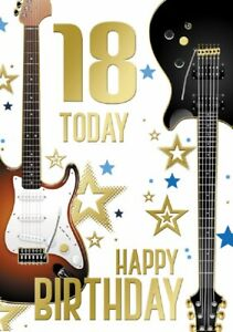 18 Today Guitar Card. Great For A Guitar Player. For Male. Two Designs