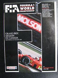 Program-Grand-Prix-Molson-Du-Canada-1989-16-17-18-juin-Montreal-PBE