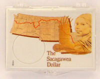 Sacagawea - Map, 2x3 Snap Lock Coin Holders, 3 Pack