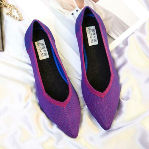 Pointed Toe Flats Environmental Women Shoes SIZE US 4-12 Black Red Leopard Girls