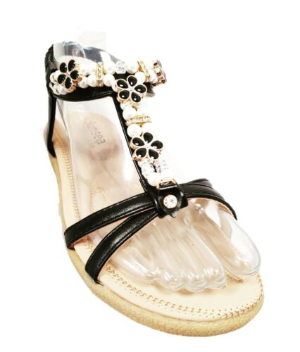 NEW WOMENS LADIES OPEN TOE THONG SANDALS SUMMER FLIP FLOP ANKLE STRAP FLAT SHOES
