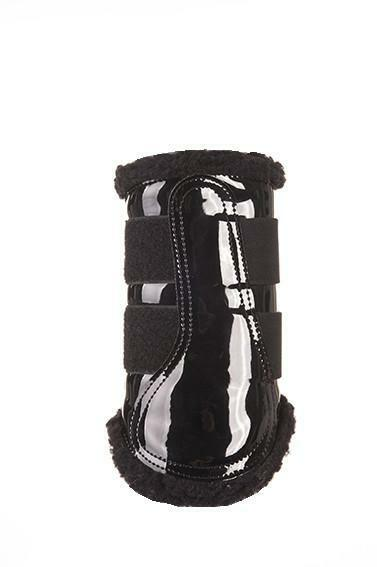 HKM Comfort Patent Faux Fur Lined Brushing Boots-Full - Cob-Fast+ Fast & Free