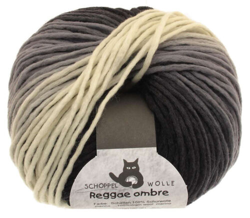 13€//100g Schoppel Wolle 50g Reggae ombre Farbe 1508 Schatten