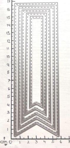 Stanzschablone//cutting esto marcadores Bookmark banderín apto para Big Shot