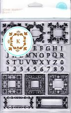 FLOURISH MONOGRAMS ALPHABET - MARTHA STEWART CLEAR STAMP SET