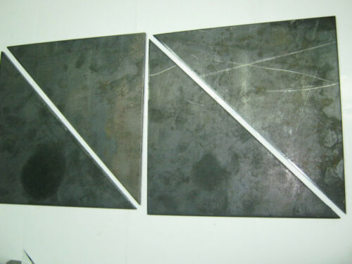 """QTY 4 STEEL  PLATES GUSSET 1//4/"""" x 6/"""" x 6/""""  HOT ROLLED STEEL"""