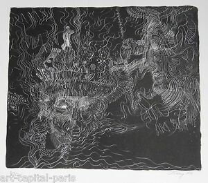 TOBEY-MARK-LITHOGRAPHIE-1970-SIGNEE-AU-CRAYON-NUM-52-HANDSIGNED-NUMB-LITHOGRAPH