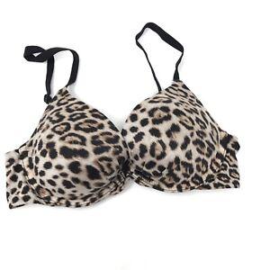 3686c0e3d6774 Victoria's Secret Fabulous By VS Plunge Bra Size 32C Leopard Print ...