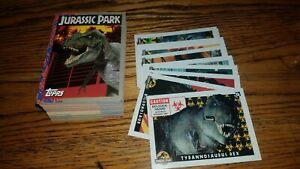 11 JURASSIC PARK MOVIE SERIES 1 1993 TOPPS COMPLETE BASE CARD /& STICKER SET 88
