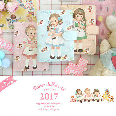 Afrocat Paper Doll Mate Daily Diary 2017 Note Book Schedule Memo New Year Gift