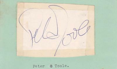 Autographs-original Cards & Papers Lawrence Of Arabia Jsa Z69860 Objective Peter O'toole D.2013 Signed 2x3 Cut Paper Actor