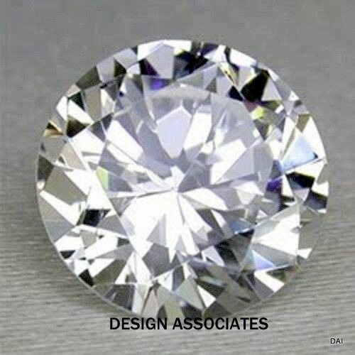 NATURAL WHITE  SAPPHIRE 3.5 MM ROUND DIAMOND COLOR
