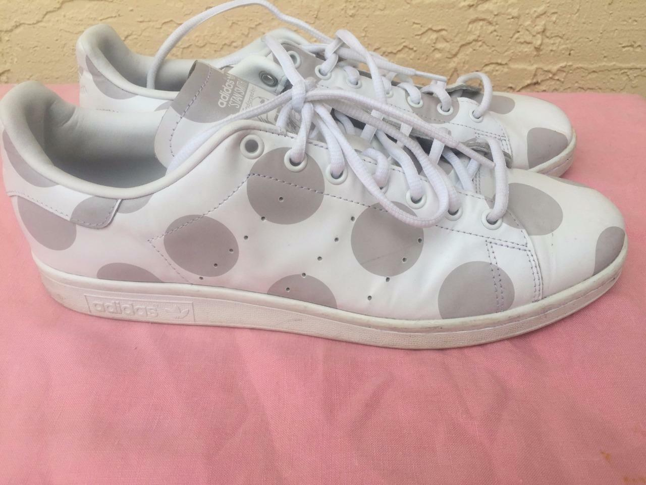 Adidas Originals Stan Blanco Smith s77368 Polka Dot Blanco Stan Leather Sneakers US 12 Especial de tiempo limitado ba522c