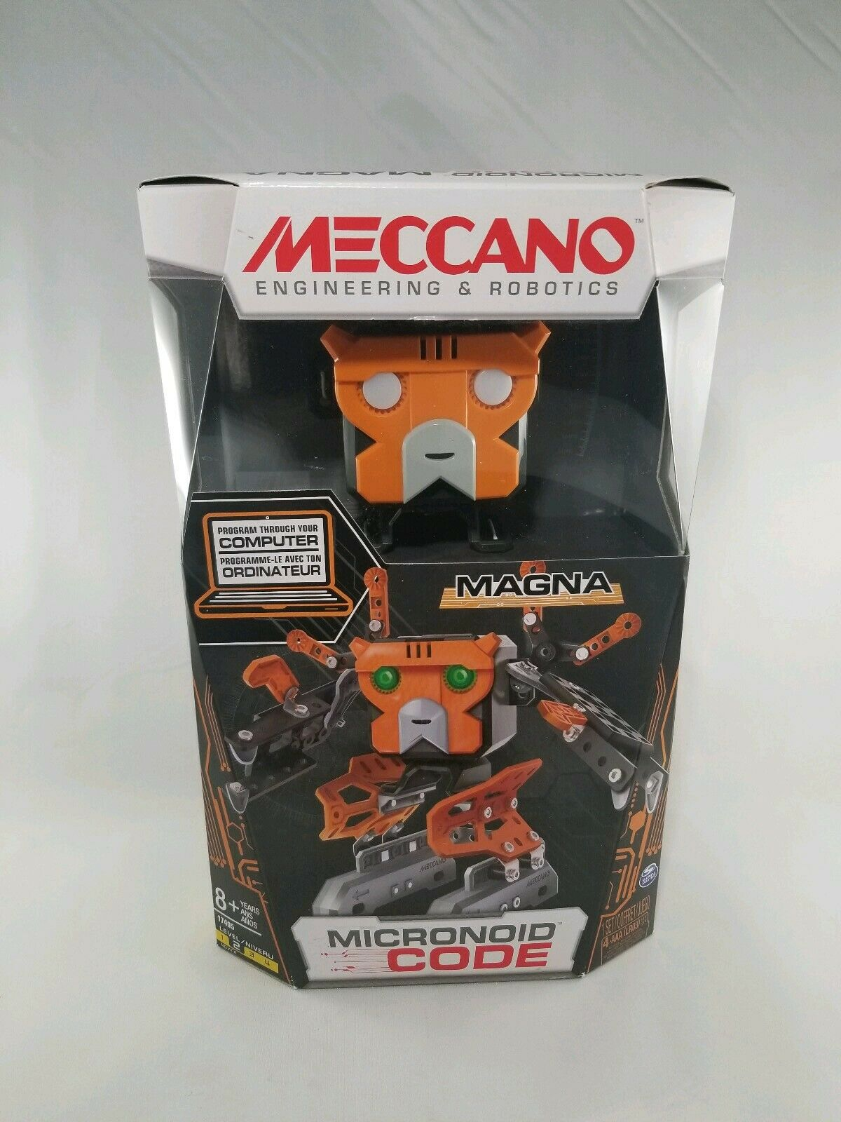 Meccano-Erector - Micronoid Code Magna Programmable Robot Building Kit Kit Kit   NIB c611d4