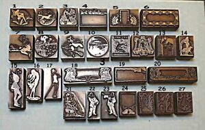 """ART NOUVEAU, ART DECO & ARTS & CRAFTS"" Printing Blocks. (Multiple Item Listing)"