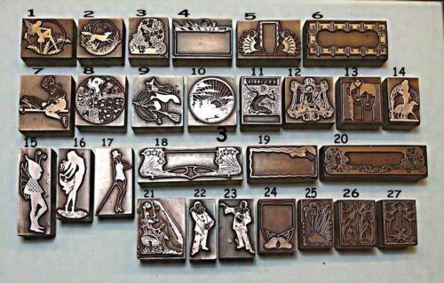 "Multiple Item Listing /""ART NOUVEAU ART DECO /& ARTS /& CRAFTS/"" Printing Blocks."