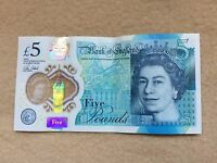 New Bank Of England Five Pound Note AA Serial Number (1)