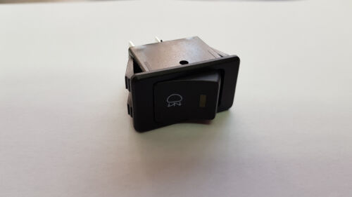 Rectangular rear fog lamp switch with rear fog symbol and amber led IVA  test