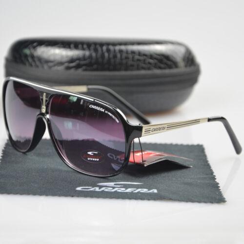 Fashion Men /&Women/'s Aviator Sunglasses Light Black Eyewear Carrera Glasses C-5
