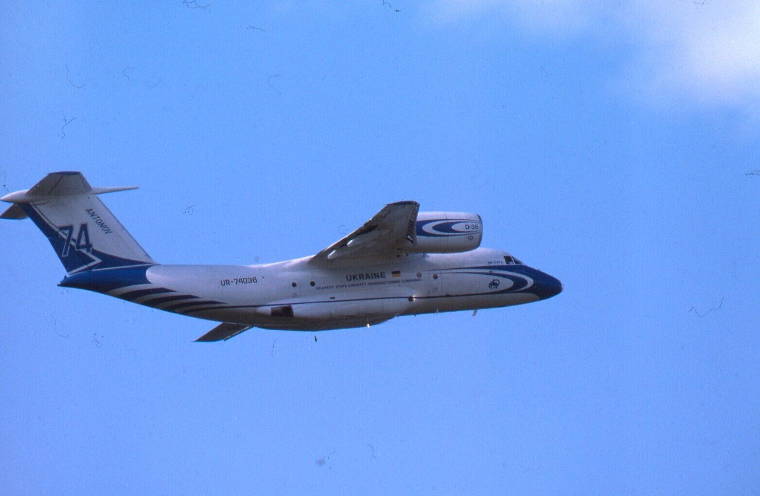 Original 35mm Aircraft slide Antonov An-74TK-200 #170