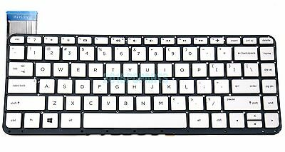 Replacement Keyboard Without Frame For HP Stream 13-C 13-C000 13-C002DX 13-C010CA 13-C010NR 13-C020CA 13-C020NR 13-C030NR 13-C077NR US Layout White Color