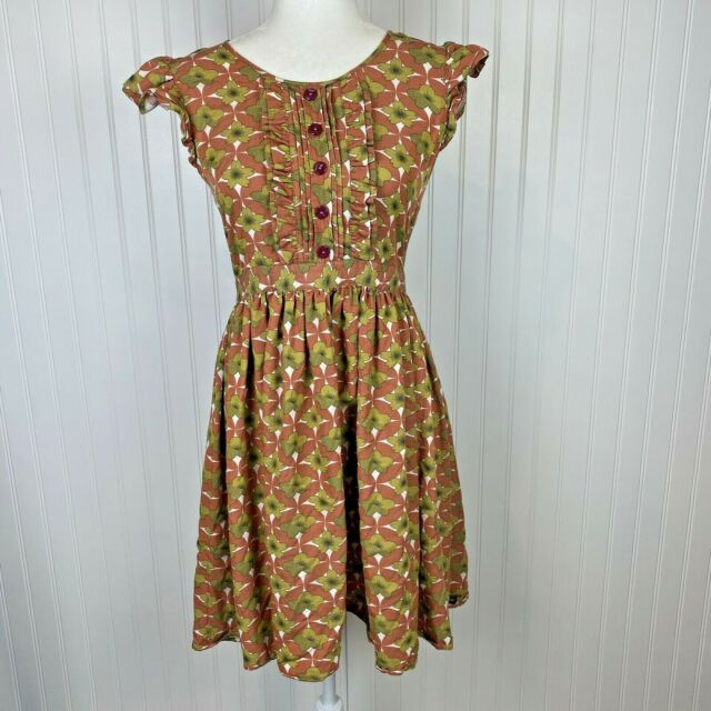 Matilda Jane Women's Size Medium Floral Fall Lucy Fit N Flare Dress
