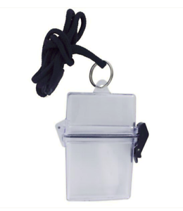 CLEAR WATERPROOF WITH BLACK LANYARD Vanguard IDENTIFICATION CARD HOLDER