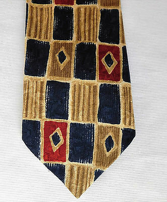 Silk check tie Pure silk English mens tie by Jonelle John Lewis