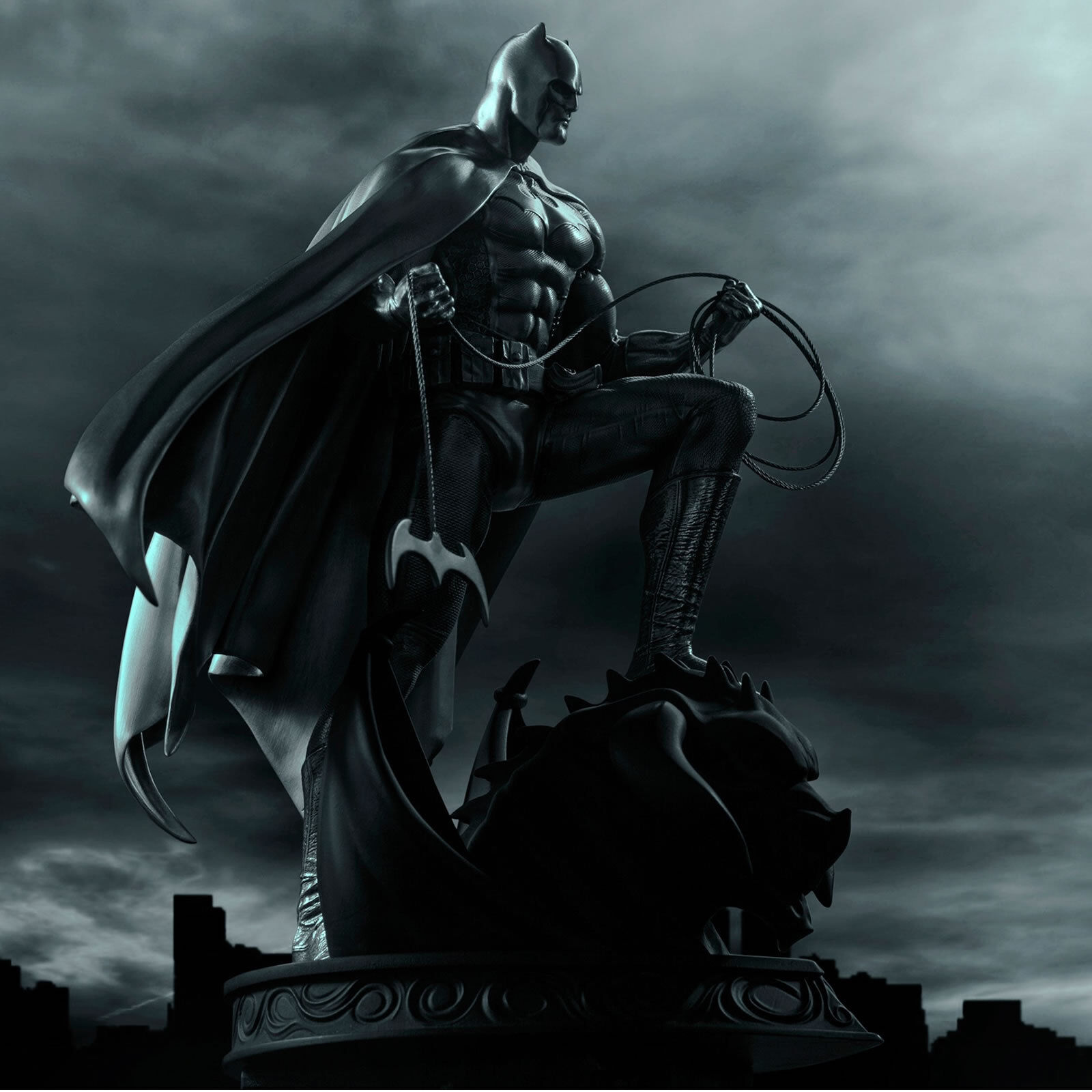 DC Comics Pewter Limited Edition Batman Figurine - Licensed by Royal Selangor