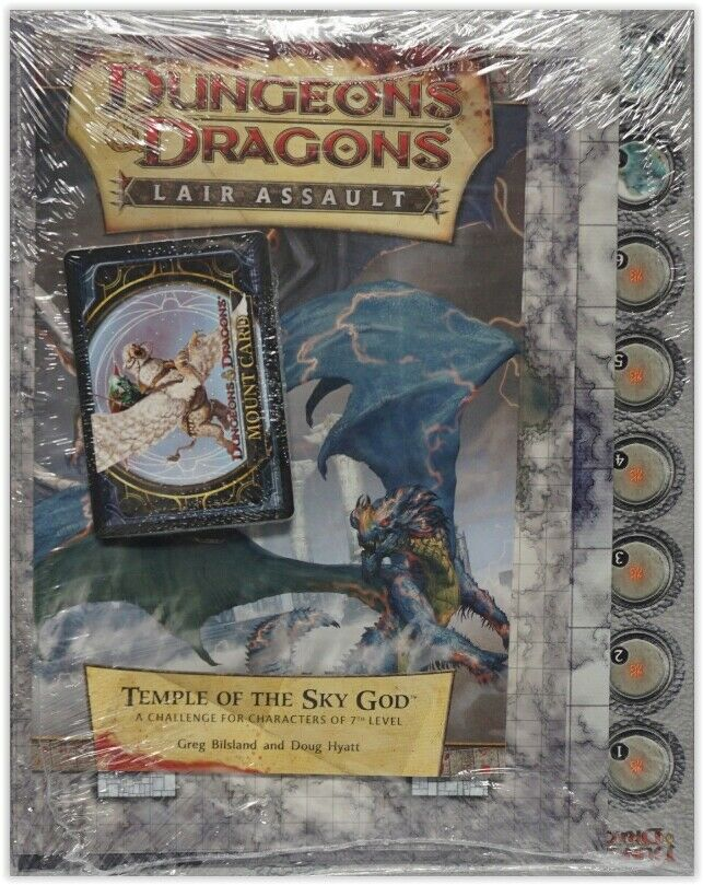 DUNGEONS &  DRAGONS Lair Assault  Temple of the cielo God   D&D 4th edizione SEALED  negozio online outlet