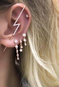 Cartilage-Cubic-Zirconia-Earring-Cartilage-Gemstone-925-Silver-14K-Rose-Gold