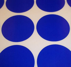 100 Dark Blue 45mm 1 3/4 Inch Colour Code Dots Round Stickers Sticky ID Labels