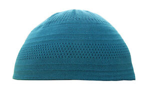 Image is loading TheKufi-Teal-Blue-Cotton-Stretch-Knit-Kufi-Hat- 84cdd8b1dd0e