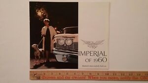 1960-IMPERIAL-Custom-Lebaron-Dealer-Sales-Catalog-Excellent-Condition-USA