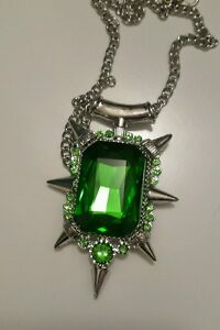 Zelena green emerald pendant necklace once upon a time wicked image is loading zelena green emerald pendant necklace once upon a aloadofball Gallery