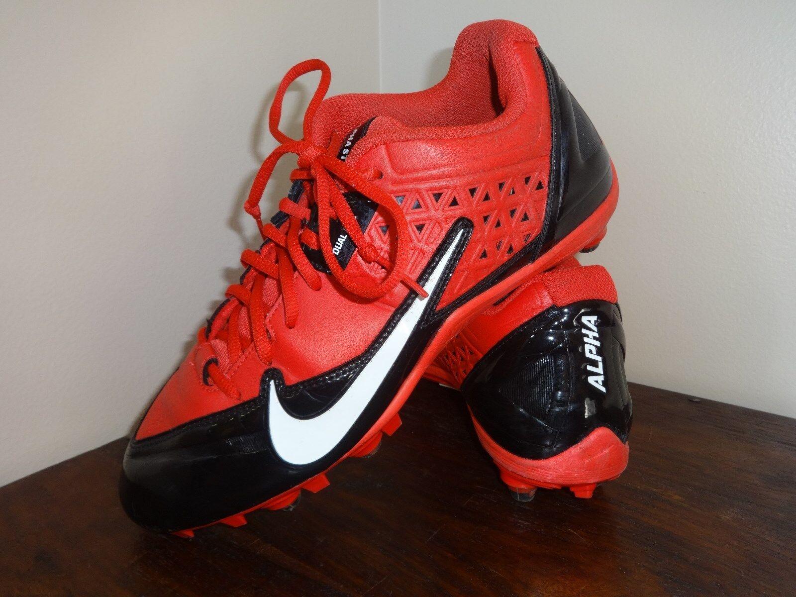 b915ca71c5a Nike Alpha Strike Strike Strike Red Football Cleats Men Athletic Men s Size  11 M 6c1771