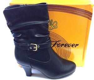 FOREVER-WOMEN-039-S-BOOTS-KALE-11-BLACK