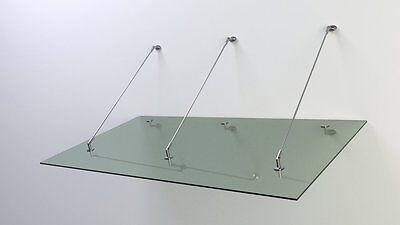 FäHig Glas Vordach Edelstahl 2,1m X 1,1m X 14 Mm Vsg Stärke Gute Begleiter FüR Kinder Sowie Erwachsene Vordächer