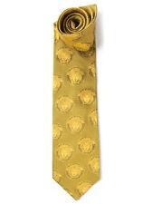 MEDUSA Gianni Versace Tie Black and Gold 100% Silk Tie