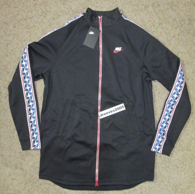 Nike Sportswear NSW Taped Track Jacket Black Blue Red White Aj2681 010 Sz M d77432054