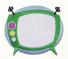Bordado kitsch de mediados de siglo Verdes Retro TV Parche espacio atómico 50s Apliques