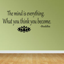 Wall Decal Quote The Mind Is Everything What You Think You Become Buddha (VM4)