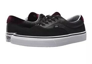 689ac483b9 Vans Era 59 Velvet Black Red Mens Size 11 New Skate Shoe