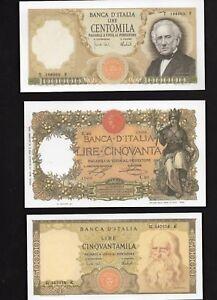 3-Riproduzioni-Banconota-100000-Marconi-50-Buoi-50000-Leonardo-Lire-Italiane