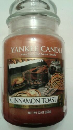 YANKEE CANDLE CINNAMON TOAST 22 OZ RARE AND AWESOME