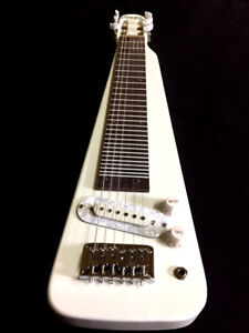 NEW-CUSTOM-HAND-MADE-WESTERN-SWING-6-STRING-ELECTRIC-WHITE-LAP-STEEL-GUITAR