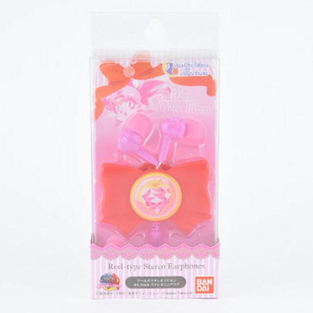Bandai Sailor Moon ribbon reel stereo earphones prism heart compact SLM-34C