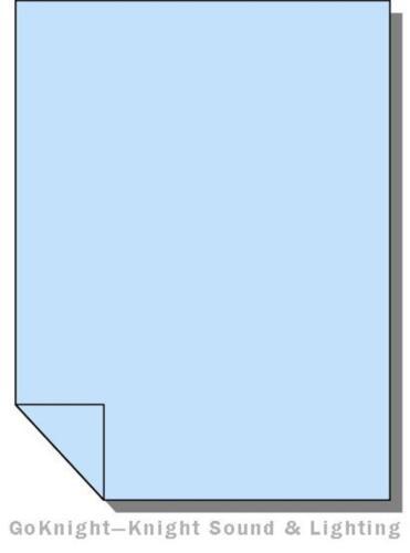 """Lee Filters 201 Full CTB Lighting Gel Sheet 21/"""" by 24/"""""""