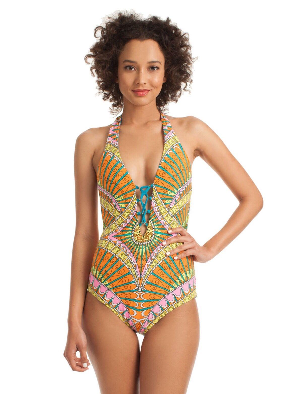 NWT. Sz 10 Trina Turk Capri One-Piece Swimsuit
