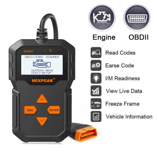 OBD OBD2 Car Scanner Check Engine Fault Code Reader Diagnostic Tool 301 US